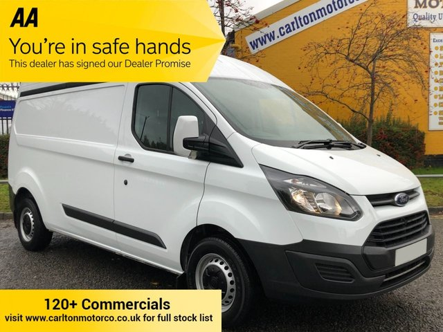 2017 67 FORD TRANSIT CUSTOM 290 TDCi 130 L2 H2 LWB HIGH ROOF P/V FWD