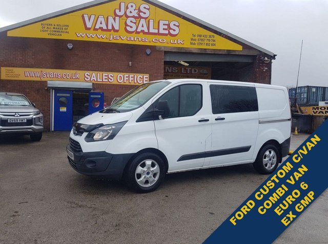 USED 2016 66 FORD TRANSIT CUSTOM CREW VAN EURO 6  AIR CON  P/CAMERA £8995 + VAT LOTS MORE IN STOCK OVER 100 ON SITE