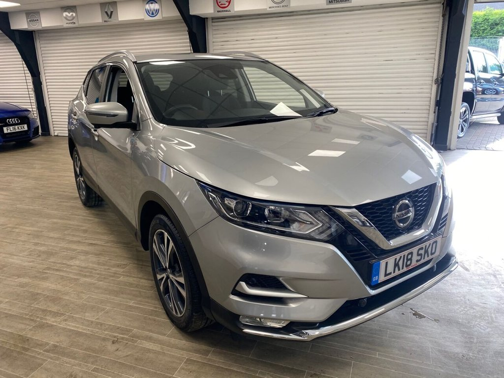 USED 2018 18 NISSAN QASHQAI 1.2 N-CONNECTA DIG-T XTRONIC 5d 113 BHP ONE OWNER TWO KEYS TWO SERVICE STAMPS FREE HOME DELIVERY CONTACTLESS CALL US ON 07785902621 AFTERHOURS
