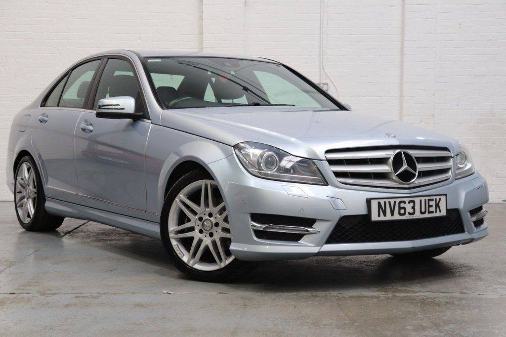 USED 2014 63 MERCEDES-BENZ C-CLASS 2.1 C220 CDI BLUEEFFICIENCY AMG SPORT PLUS 4d 168 BHP Parking Aid Front / Rear + Cruise