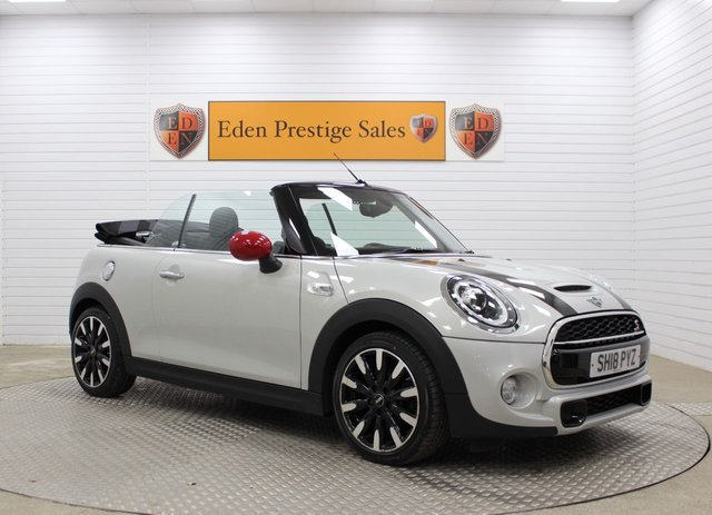 USED 2018 18 MINI CONVERTIBLE 2.0 COOPER S 2d 190 BHP
