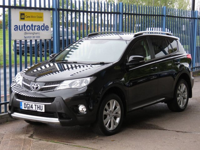 USED 2014 14 TOYOTA RAV4 2.2 D-4D INVINCIBLE 5d 150 BHP Sat Nav, Full Leather, DAB, Bluetooth, Heated Front Seats, Reversing Camera, Cruise Control, Front and Rear Parking Sensors.