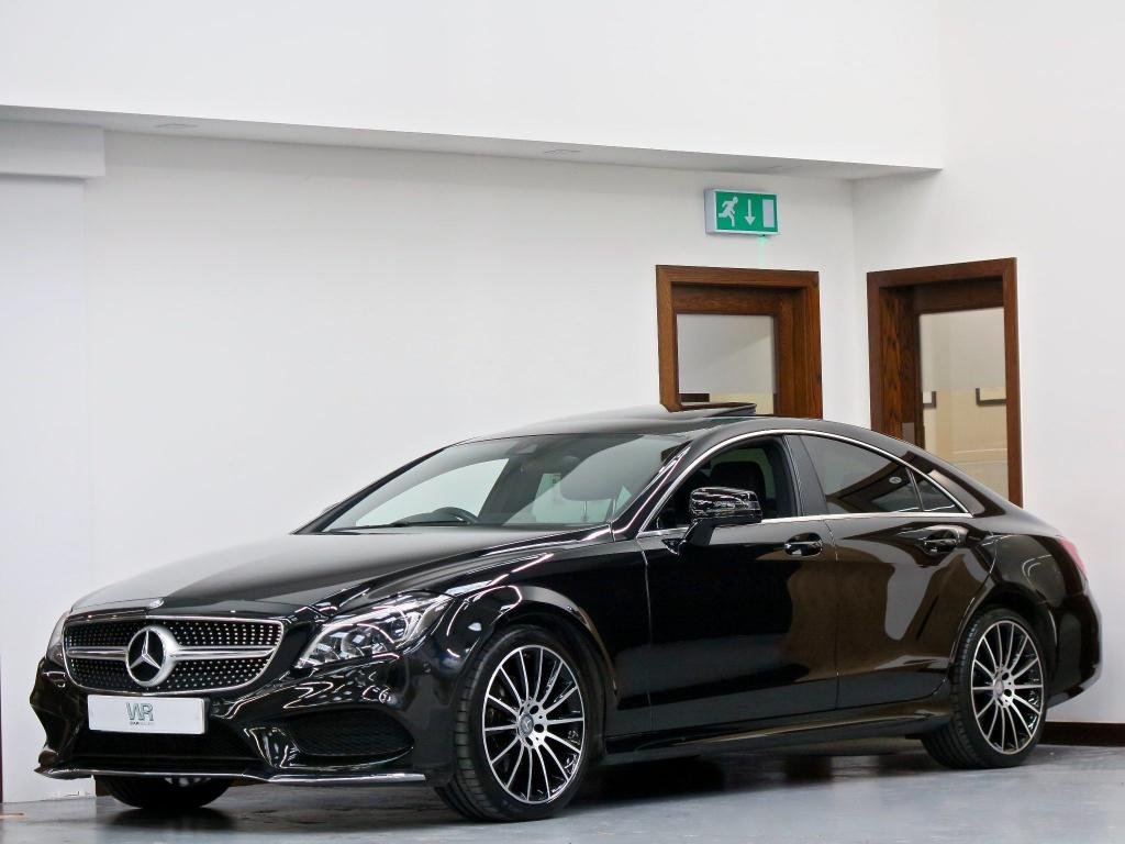USED 2017 66 MERCEDES-BENZ CLS CLASS 2.1 CLS220d AMG Line (Premium) G-Tronic+ (s/s) 4dr SUNROOF + SAT NAV + REV CAMERA