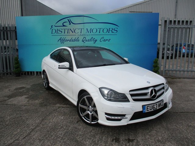 USED 2013 63 MERCEDES-BENZ C-CLASS 2.1 C220 CDI BLUEEFFICIENCY AMG SPORT PLUS 2d 168 BHP
