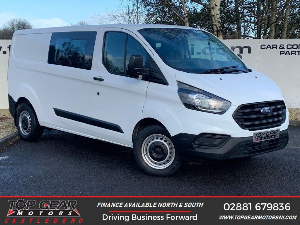 USED 2018 68 FORD TRANSIT CUSTOM 320 2.0 130BHP DCIV CREW CAB 6 SEATER L2 H1  **A/C, PLY LINED, FACTORY 6 SEATER , 130BHP **