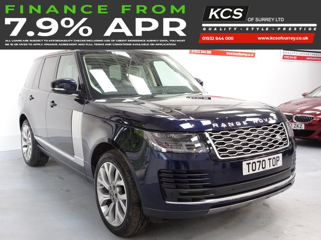 USED 2020 70 LAND ROVER RANGE ROVER 3.0 SD V6 WESTMINSTER AUTO 4WD (S/S) 5DR IVORY LTHR - 1 LADY OWNER