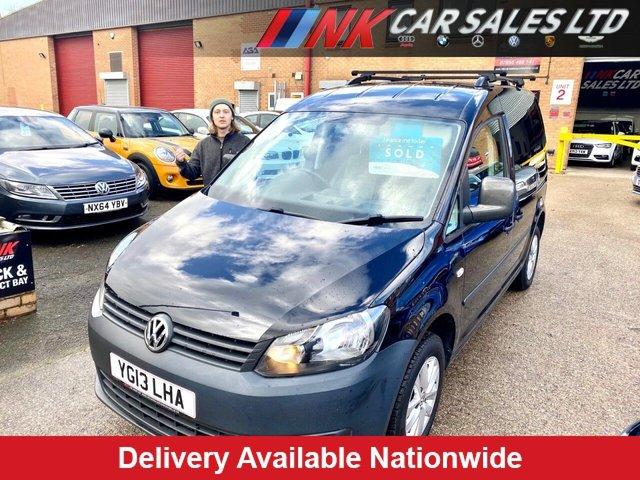 2013 13 VOLKSWAGEN CADDY 1.6 C20 TDI BLUEMOTION 102 101 BHP TWO KEEPERS FSH NO VAT