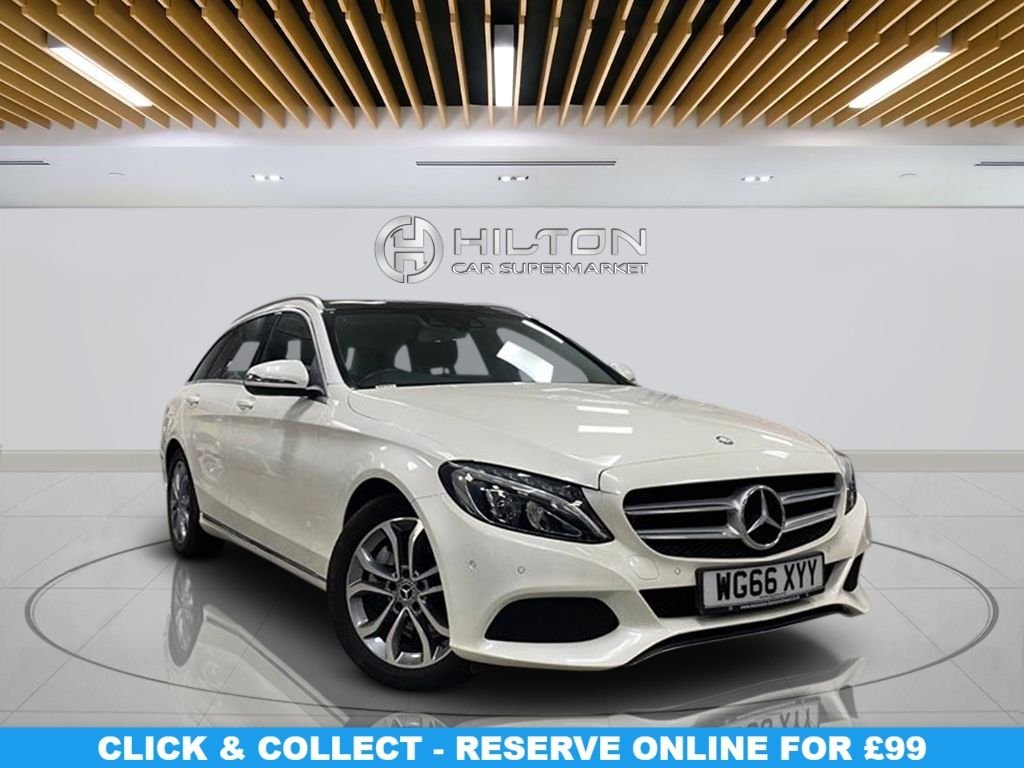 USED 2017 66 MERCEDES-BENZ C-CLASS 2.1 C300 H SPORT 5d 204 BHP Panoramic Roof, Leather Upholstery, Alloy Wheels, Climate Control, Parking Sensors
