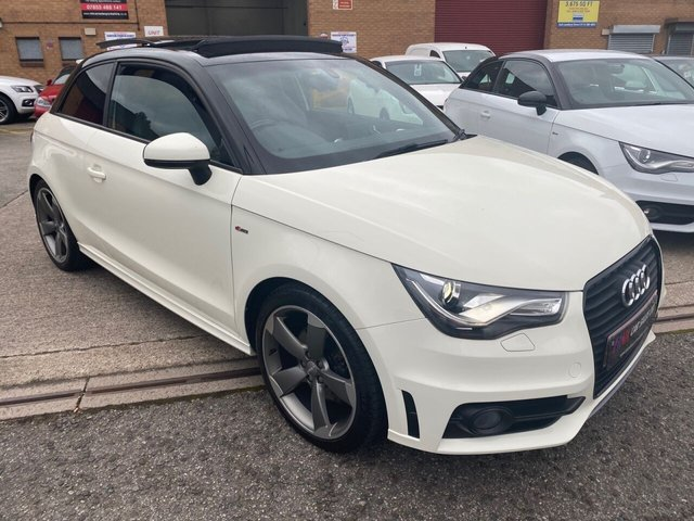 2012 12 AUDI A1 2.0 TDI BLACK EDITION 3d 143 BHP RARE OPENING PAN ROOF MODEL WITH FULL LEATHERS,BOSE SOUND HEATED SEATS.EXENONS  SOLD TO TRACEY FROM BARNSLEY