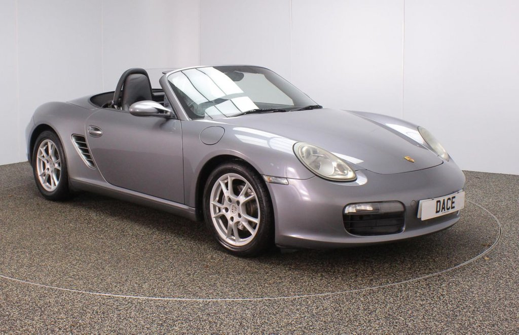 USED 2005 PORSCHE BOXSTER 2.7 24V 2DR 240 BHP TIPTRONIC HEATED LEATHER SEATS + SATELLITE NAVIGATION + BOSE PREMIUM SPEAKERS + BLUETOOTH + CLIMATE CONTROL + MULTI FUNCTION WHEEL + ELECTRIC WINDOWS + ELECTRIC MIRRORS + 17 INCH ALLOY WHEELS