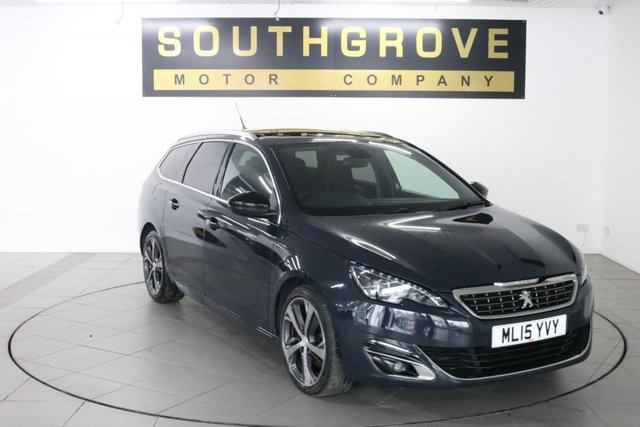 USED 2015 15 PEUGEOT 308 2.0 BLUE HDI S/S SW GT LINE 5d 150 BHP