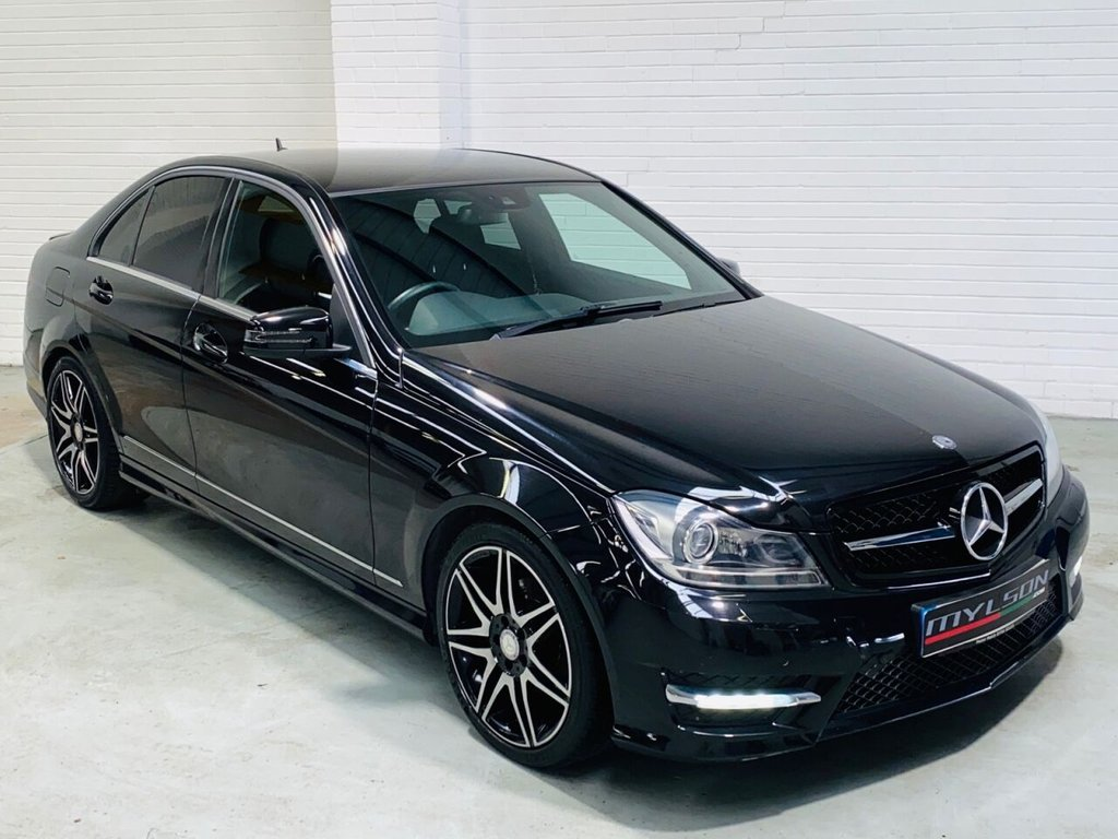 USED 2013 63 MERCEDES-BENZ C-CLASS 2.1 C220 CDI BLUEEFFICIENCY AMG SPORT PLUS 4d 168 BHP Sport Plus Spec, C63 Style Grille and Exhaust, Red Stitching