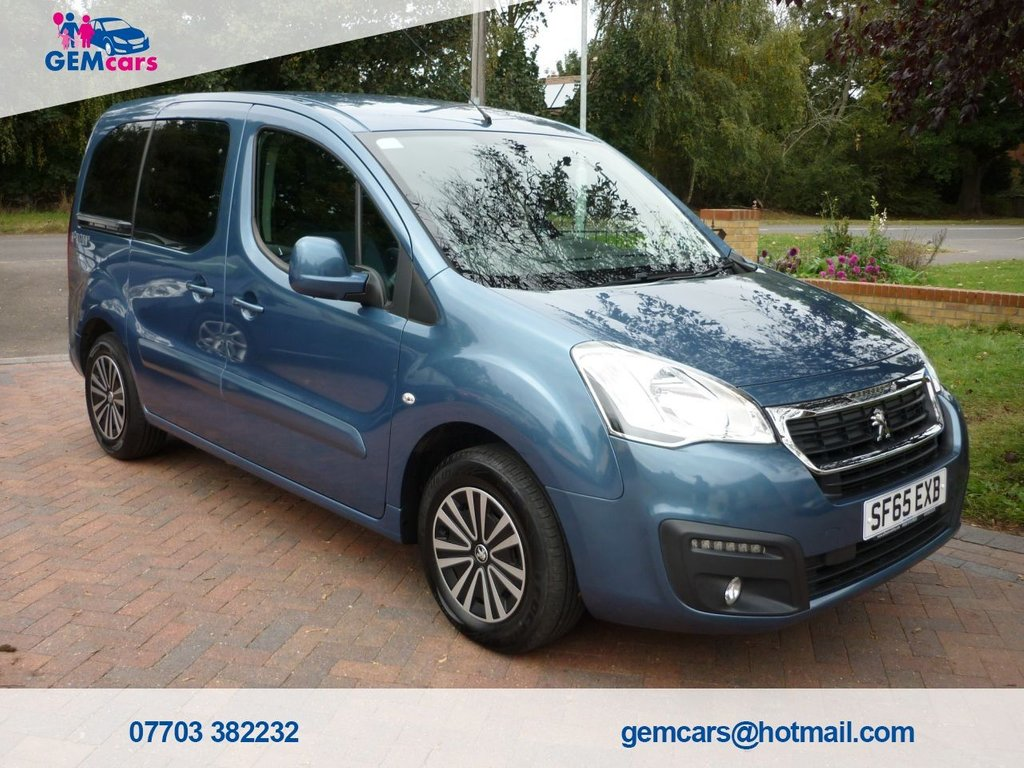 USED 2015 65 PEUGEOT PARTNER 1.6 TEPEE HORIZON S A/C ACTIVE 5d 98 BHP WAV  GO TO www.gemcarsltd.co.uk TO WATCH A WALKROUND VIDEO