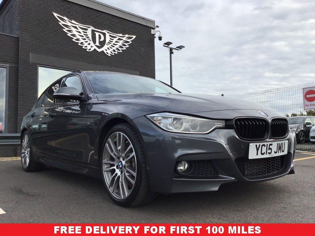 USED 2015 15 BMW 3 SERIES 2.0 325D M SPORT 4d 215 BHP RED LEATHER- H K SOUND- SATNAV