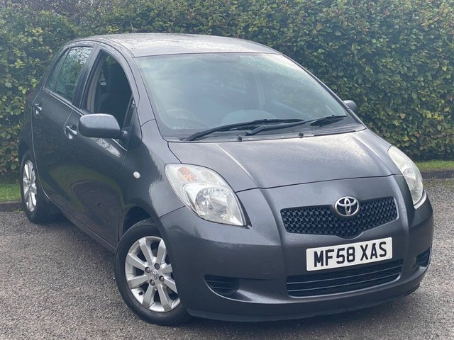 USED 2008 58 TOYOTA YARIS 1.3 TR VVTI 5d 86 BHP **AIR CONDITIONING / ALLOY WHEELS**