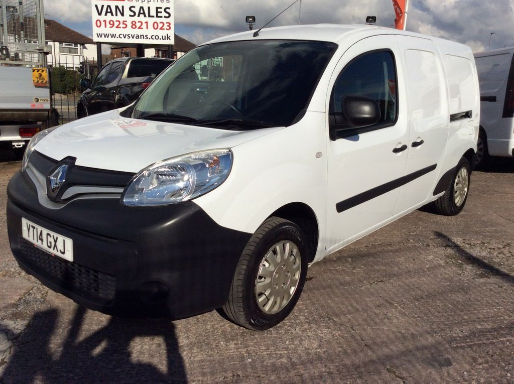 USED 2014 14 RENAULT KANGOO MAXI 1.5 LL21 CORE DCI W/V 90 BHP 5 SEAT CREW VAN 1 OWNER FSH NEW MOT FREE 6 MONTH WARRANTY INCLUDING RECOVERY AND ASSIST 5 SEATS