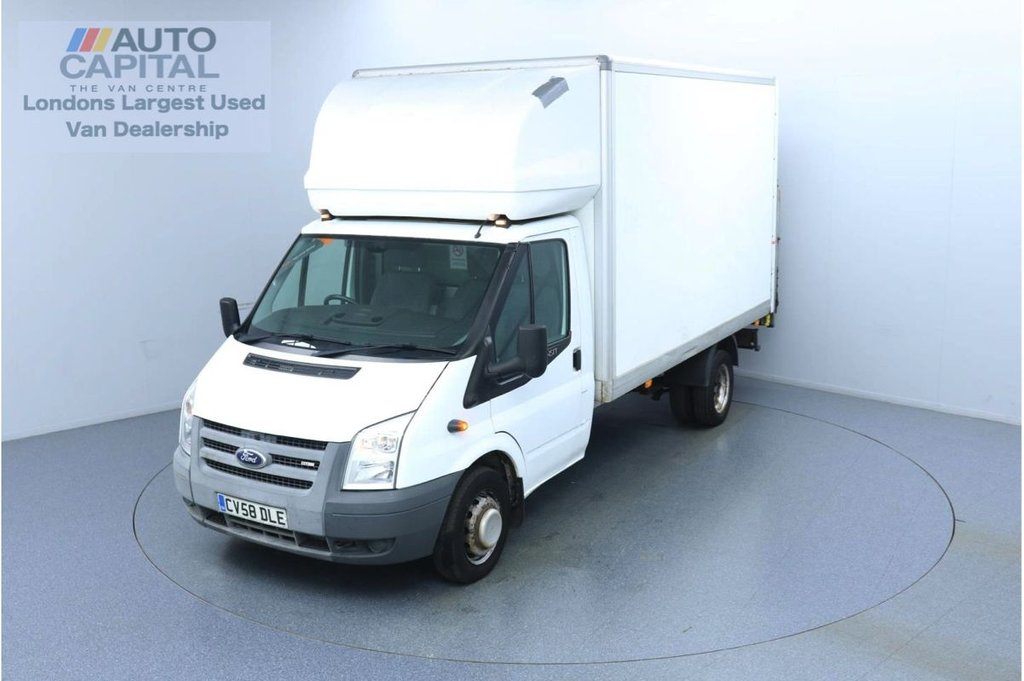 USED 2008 FORD TRANSIT 2400 350 RWD Twin Wheels L4 X-LWB 115 BHP Luton Van  Trade sale only | No warranty | Rear Tail Lift Fitted