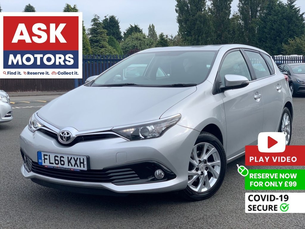 USED 2016 66 TOYOTA AURIS 1.2 VVT-I ICON 5d 114 BHP SERVICE HISTORY SPARE KEY 30 POUNDS TAX