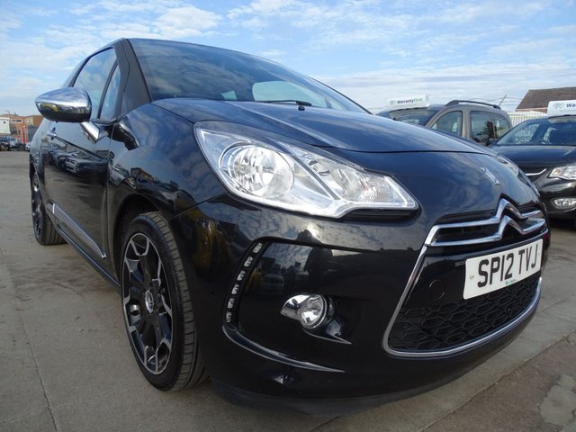 USED 2012 12 CITROEN DS3 1.6 E-HDI AIRDREAM DSPORT PLUS 3d FULL LEATHER