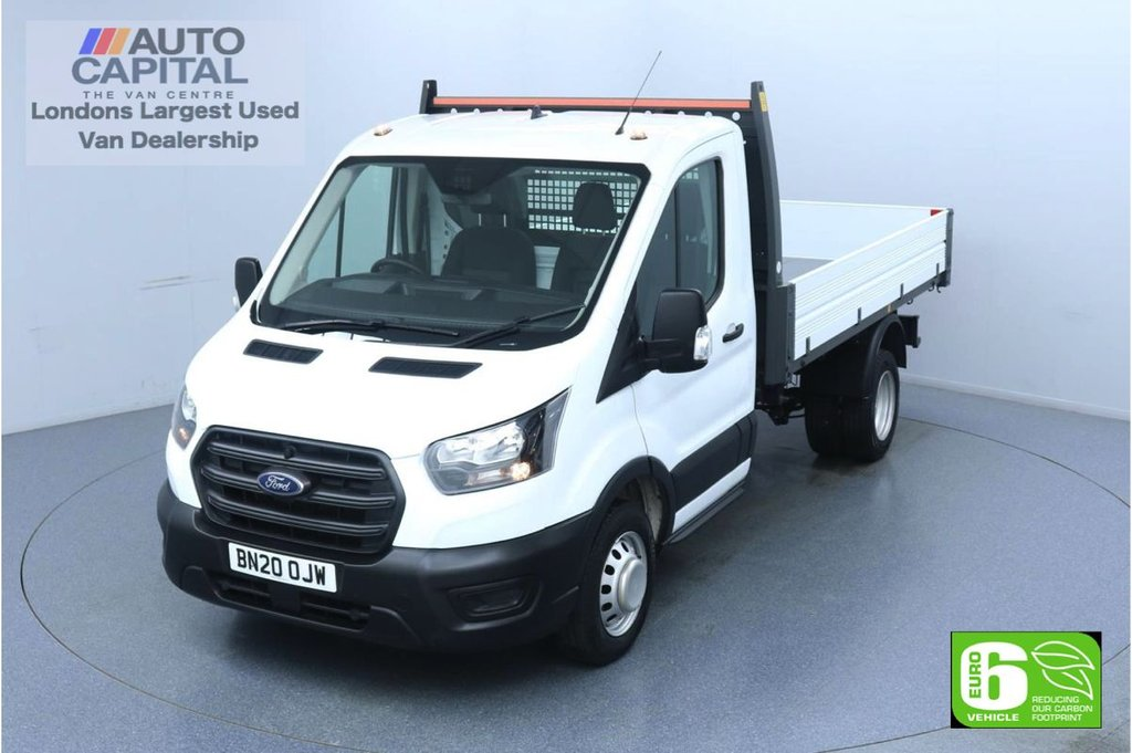 USED 2020 20 FORD TRANSIT 2.0 350 RWD EcoBlue L2 MWB 130 BHP Low Emission Leader Tipper Twin wheels | Eco mode | Rear Tow fitted