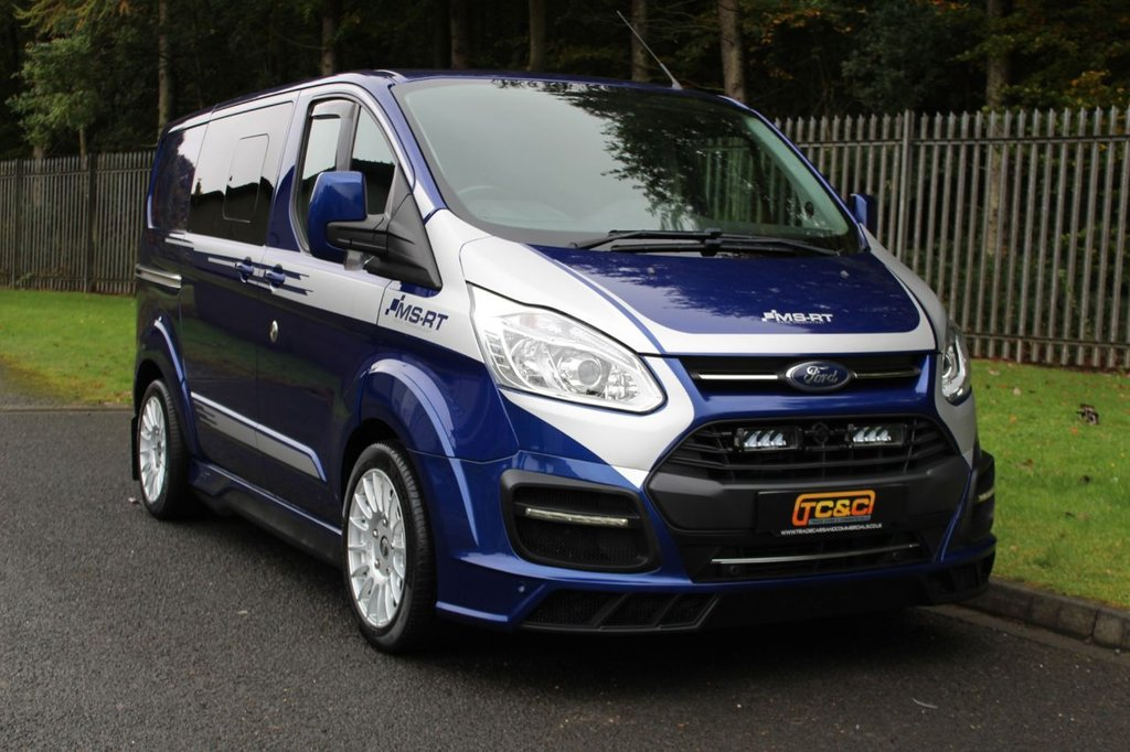 USED 2017 67 FORD TRANSIT CUSTOM 2.0 310 MS-RT M SPORT LR DCB 168 BHP A STUNNING LOW MILEAGE AND GENUINE MS-RT COMBI VAN WITH UPGRADED AUDIO SYSTEM!!!