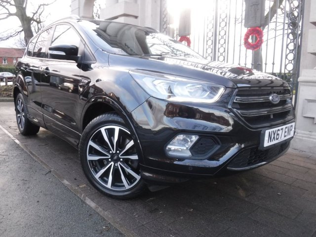 USED 2018 67 FORD KUGA 1.5 ST-LINE TDCI 5d 119 BHP FINANCE ARRANGED**PART EXCHANGE WELCOME**PART LEATHER**CRUISE**NAV**DAB**BLUETOOTH**PARK ASSIST**F+R PARKING SENSORS