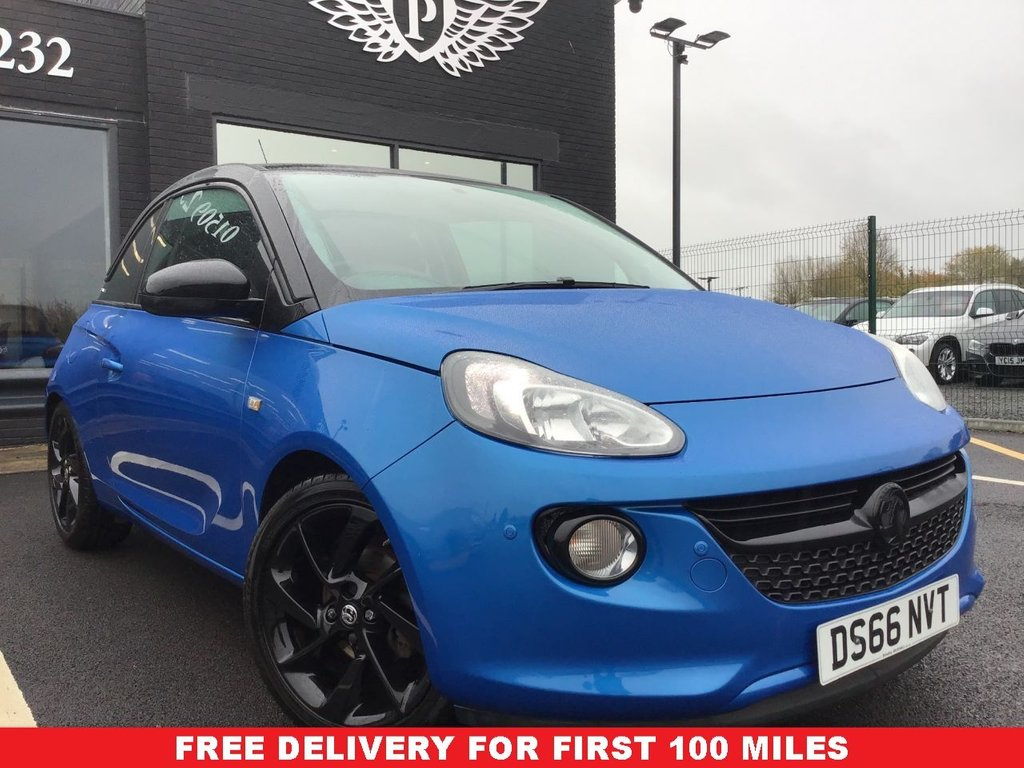 USED 2016 66 VAUXHALL ADAM 1.2 ENERGISED 3d 69 BHP *FULL VALET, MOT, SERVICE AND WARRANTY INC - 7 DAYS MONEY BACK GUARANTEE - FREE DELIVERY*