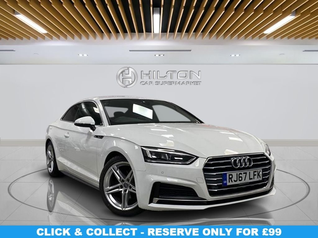 """USED 2017 67 AUDI A5 2.0 TFSI S LINE 2d 188 BHP Navigation System, Half Leather Seats, 18"""" Alloy Wheels, Parking Sensor(s), Climate Control, Privacy Glass"""