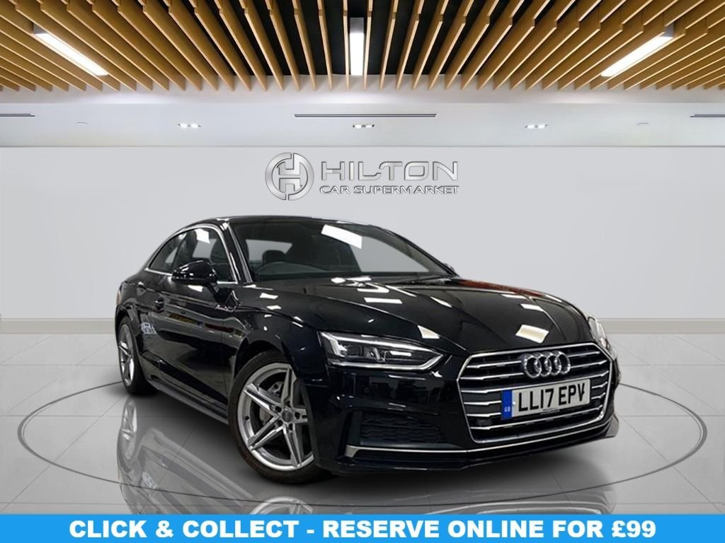 """USED 2017 17 AUDI A5 2.0 TDI ULTRA S LINE 2d 188 BHP Navigation System, Leather Seats, 18"""" Alloy Wheels, Parking Sensor(s), Privacy Glass, Climate Control"""