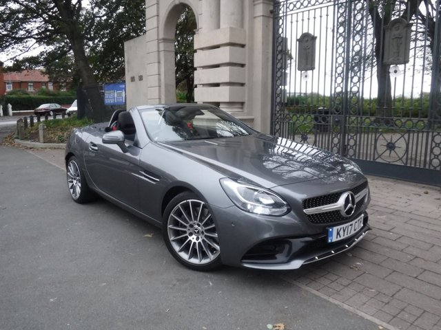 USED 2017 17 MERCEDES-BENZ SLC 2.1 SLC 250 D AMG LINE 2d 201 BHP *** FINANCE & PART EXCHANGE WELCOME *** HIGH SPEC CAR ELECTRIC PANORAMIC ROOF FULL BLACK LEATHER AIR SCARF HEATED SEATS SAT/NAV BLUETOOTH PHONE PARKING SENSORS