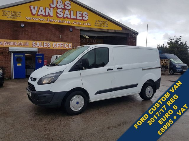 USED 2017 17 FORD TRANSIT CUSTOM T290 SWB LOW TOP EURO 6 ENGINE 1 OWNER 8995 + VAT ##### OVER 100 MORE VANS EURO 6 MODELS IN STOCK ####