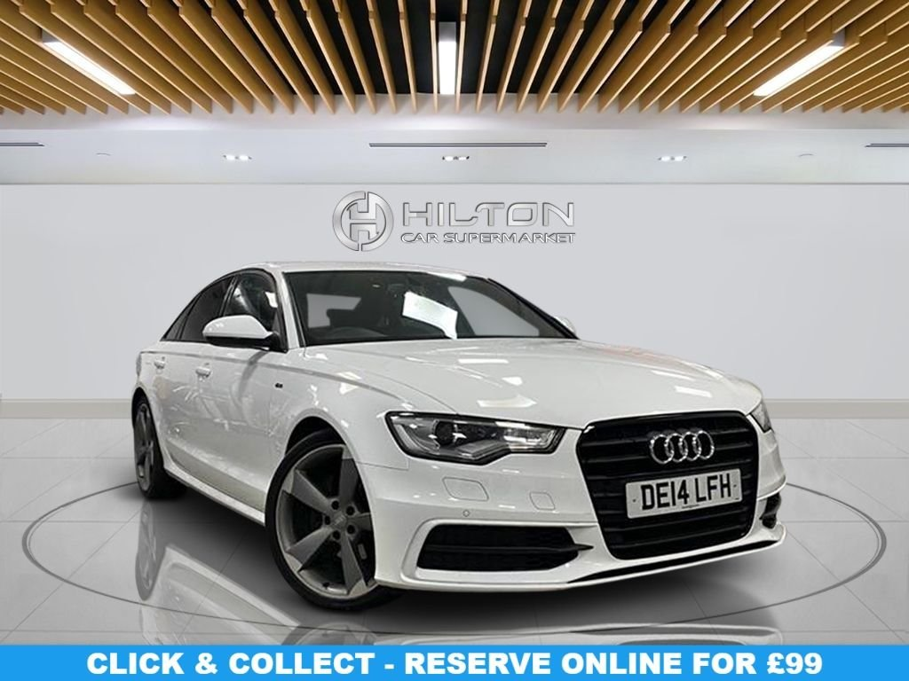 """USED 2014 14 AUDI A6 2.0 TDI BLACK EDITION 4d 175 BHP Navigation System, Leather Seats, 20"""" Alloy Wheels, Parking Sensor(s), Privacy Glass, Climate Control"""