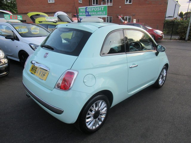 USED 2014 64 FIAT 500 1.2 LOUNGE 3d 69 BHP CALL 01543 379066... 12 MONTHS MOT... 6 MONTHS WARRANTY... CHEAP TAX... 5 DOOR... JUST ARRIVED