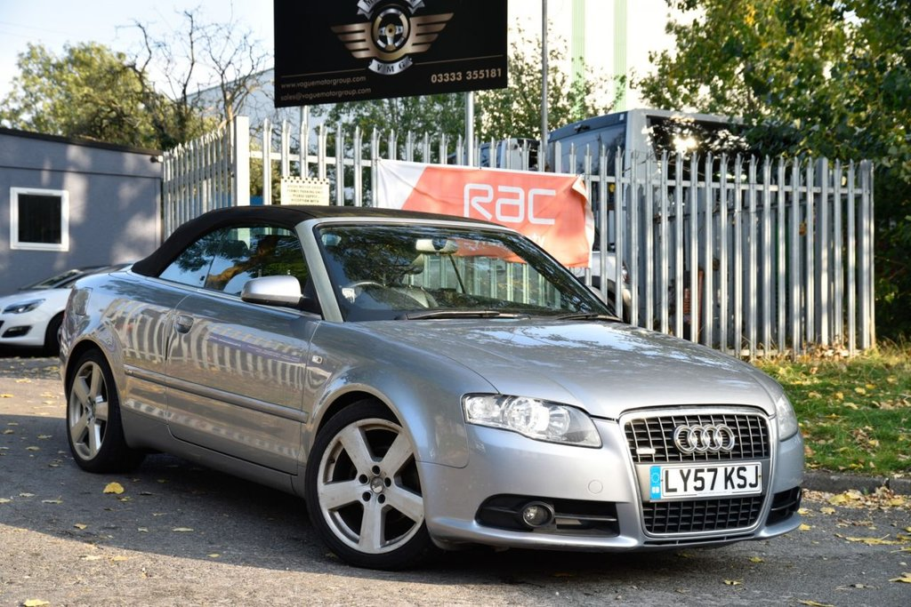 USED 2008 57 AUDI A4 2.0 TDI CABRIOLET S LINE 2d 141 BHP