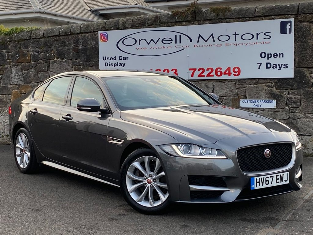 USED 2017 67 JAGUAR XF 2.0 R-SPORT 4d 177 BHP FULL JAGUAR SERVICE HISTORY+1 OWNER+TWO-TONE LEATHER INTERIOR+CRUISE CONTROL+LOW RATE FINANCE AVAILABLE