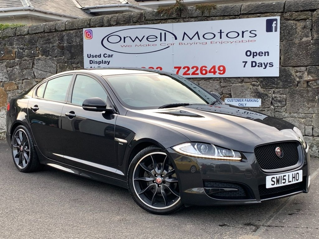 USED 2015 15 JAGUAR XF 2.2 D R-SPORT BLACK 4d 200 BHP LOW MILEAGE+FULL SERVICE HISTORY+SATELLITE NAVIGATION+1 OWNER FROM NEW+20 INCH ALLOY WHEELS+FINANCE AVAILABLE+STUNNING EXAMPLE