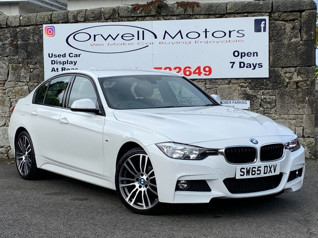 USED 2015 65 BMW 3 SERIES 2.0 320I XDRIVE M SPORT 4d 181 BHP FULL BMW SERVICE HISTORY+SATELLITE NAVIGATION+REVERSING CAMERA+FINANCE AVAILABLE+HEATED FRONT SEATS
