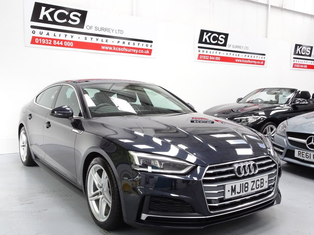 USED 2018 18 AUDI A5 2.0 SPORTBACK TFSI S LINE 5d 188 BHP SAT NAV - HEATED FRONT SEATS