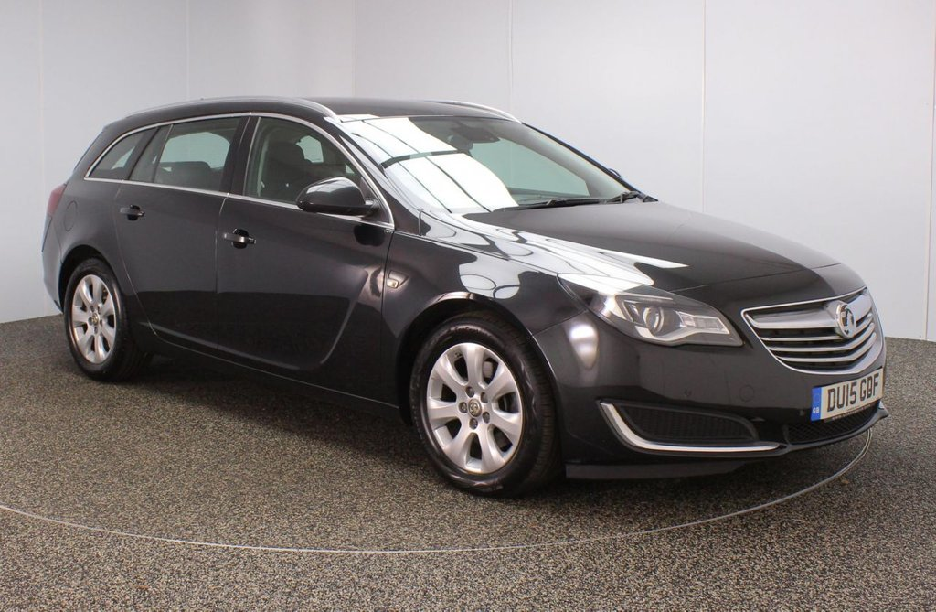 USED 2015 15 VAUXHALL INSIGNIA 2.0 TECH LINE CDTI ECOFLEX S/S 5DR 1 OWNER 138 BHP FULL SERVICE HISTORY + £20 12 MONTHS ROAD TAX + SATELLITE NAVIGATION + PARKING SENSOR + BLUETOOTH + CRUISE CONTROL + CLIMATE CONTROL + MULTI FUNCTION WHEEL + DAB RADIO + XENON HEADLIGHTS + ELECTRIC WINDOWS + ELECTRIC DOOR MIRRORS + ALLOY WHEELS