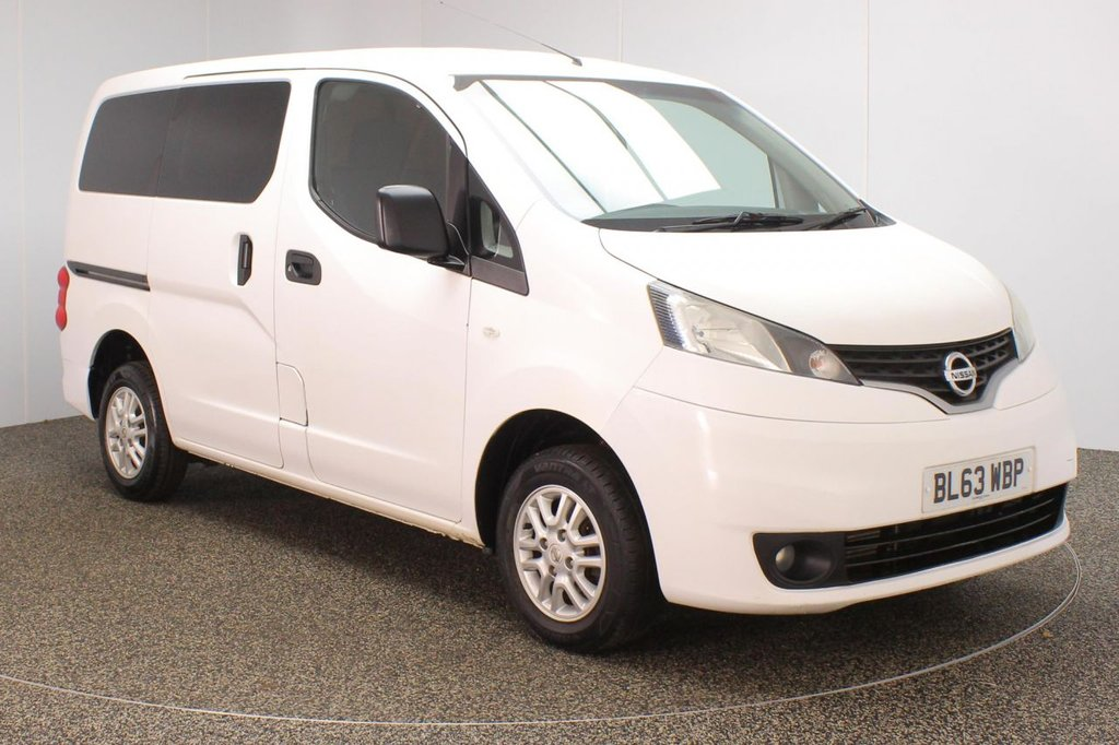 USED 2014 63 NISSAN NV200 1.5 DCI ACENTA COMBI 5DR 1 OWNER 89 BHP FULL SERVICE HISTORY + REVERSE CAMERA + BLUETOOTH + CRUISE CONTROL + MULTI FUNCTION WHEEL + AIR CONDITIONING + RADIO/CD/MP3 + PRIVACY GLASS + ELECTRIC WINDOWS + ELECTRIC/HEATED DOOR MIRRORS + 14 INCH ALLOY WHEELS