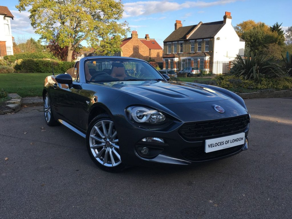 USED 2017 67 FIAT 124 1.4 SPIDER MULTIAIR LUSSO 2d 139 BHP 1 OWNER WITH TAN LEATHER