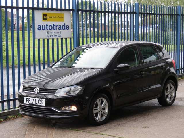 USED 2017 17 VOLKSWAGEN POLO 1.2 MATCH EDITION TSI 5d 89 BHP APPLE CAR PLAY ANDROID AUTO, FRONT AND REAR SENSORS, HISTORY APPLE CAR PLAY ANDROID AUTO, BLUETOOTH, FRONT AND REAR PARKING SENSORS, DAB RADIO, 4 X ELECTRIC WINDOWS