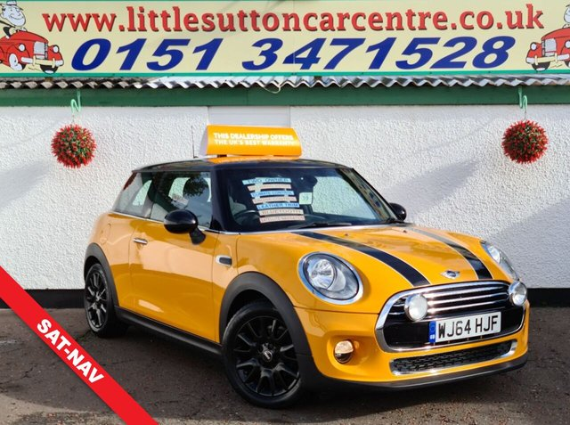USED 2014 64 MINI HATCH COOPER 1.5 COOPER 3d 134 BHP SAT-NAV, SERVICE HSITORY, FINANCE AVAILABLE
