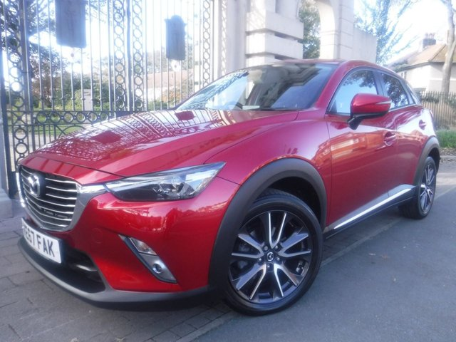 USED 2017 67 MAZDA CX-3 1.5 D SPORT NAV 5d 104 BHP *** FINANCE & PART EXCHANGE WELCOME *** 1 OWNER FROM NEW 4X4 SAT/NAV REVERSE CAMERA HEATED SEATS HALF LEATHER INTERIOR  HEATED STEERING WHEEL BLUETOOTH PHONE