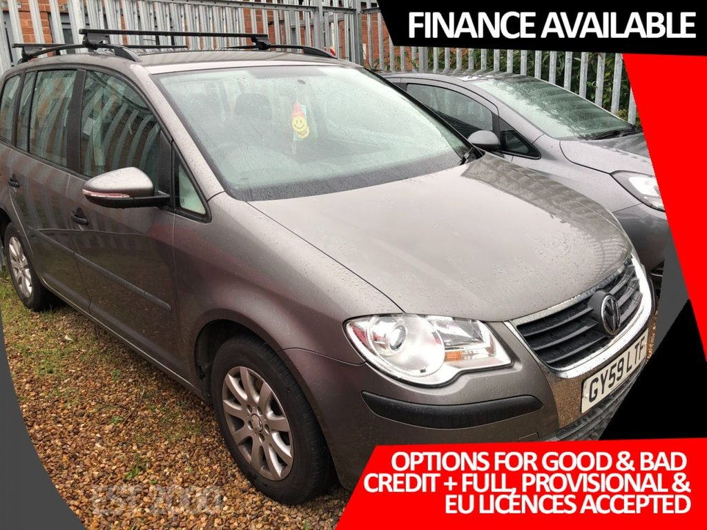 USED 2009 59 VOLKSWAGEN TOURAN 1.9 S TDI 5d 103 BHP * 7 SEATS * ROOF RAILS & BARS * 2 KEYS * FRESH MOT *