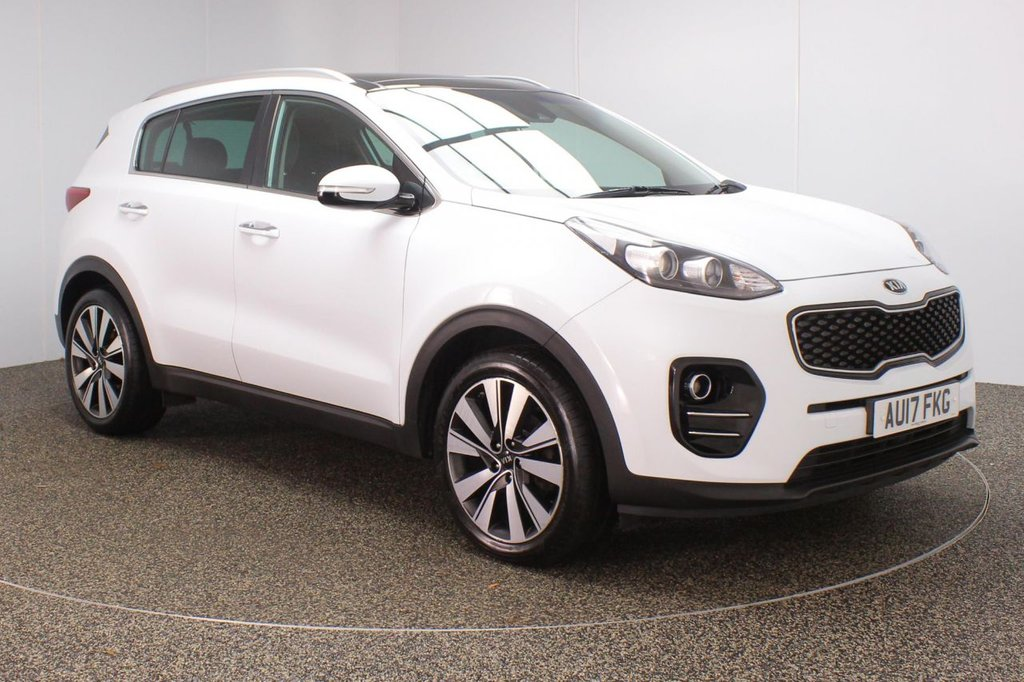 USED 2017 17 KIA SPORTAGE 1.7 CRDI 3 ISG 5DR 1 OWNER 114 BHP FULL SERVICE HISTORY + HEATED FRONT/REAR LEATHER SEATS + PANORAMIC ROOF + SATELLITE NAVIGATION + REVERSE CAMERA + PARKING SENSOR + JBL PREMIUM SPEAKERS + LANE ASSIST SYSTEM + BLUETOOTH + CRUISE CONTROL + CLIMATE CONTROL + MULTI FUNCTION WHEEL + XENON HEADLIGHTS + PRIVACY GLASS + DAB RADIO + AUX/USB PORTS + ELECTRIC WINDOWS + ELECTRIC/HEATED/FOLDING DOOR MIRRORS + 19 INCH ALLOY WHEELS