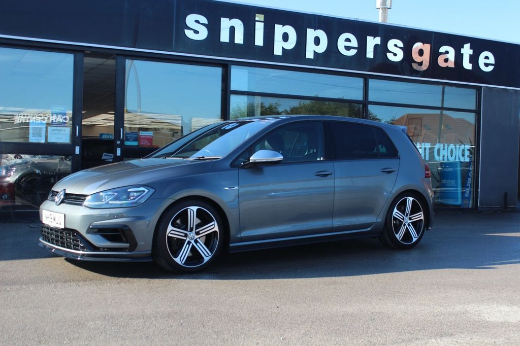 "USED 2019 19 VOLKSWAGEN GOLF 2.0 R TSI 4MOTION DSG 5d  Iridium Grey Metallic, Facelift Model, Reversing Camera, Satellite Navigation, Heated Seats, Bluetooth Phone, Adaptive Cruise Control, Upgraded Racingline Sports Springs (Original Springs Supplied With The Car), Carnet, Four Wheel Drive, Unmarked 19"" Alloy Wheels, Paintwork has been protected with Gtechniq Liquid Crystal paint protection at a cost of £650, 2 Keys and Book Pack, Full Service History."