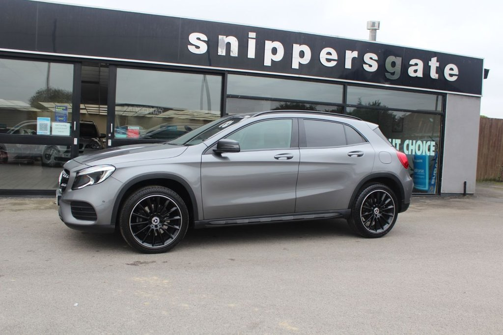 "USED 2018 18 MERCEDES-BENZ GLA-CLASS 2.1 GLA 220 D 4MATIC AMG LINE EXECUTIVE 5d 174 BHP Mountain Grey Metallic, Night Package, 19"" AMG Alloys, 1 Previous Owner, Satellite Navigation, Smart Phone Integration Package Including Apple CarPlay, Rear View Camera, Keyless Start, Heated Seats, 8"" Colour Display Screen,  AMG Styling Package, Active Park Assist, Rain Sensor, Privacy Glass, Live Traffic Capability Illuminated Door Sills, 7 Speed Dual Clutch Automatic, Off road Package, Cruise Control, Multi Function Steering Wheel, Tyre Pressure Control, Automatic Climate Control, Roof Rails,"