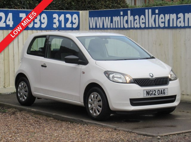 USED 2012 12 SKODA CITIGO 1.0 S 12V 3d 59 BHP FSH,LOW MILES, £20 TAX