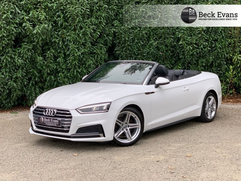 USED 2018 18 AUDI A5 CABRIOLET A5 2.0 TFSI S LINE 2DR